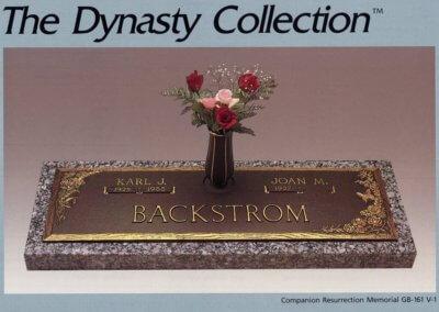 Bronze Grave Markers - Backstrom