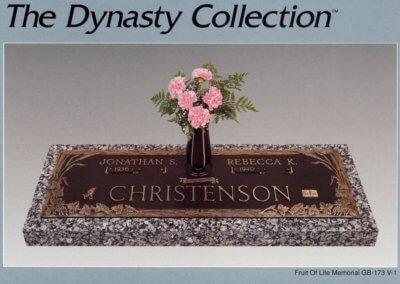 Bronze Grave Markers - Christenson