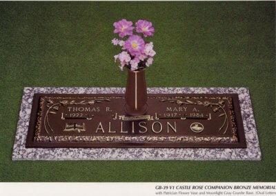 Bronze Grave Markers - Allison