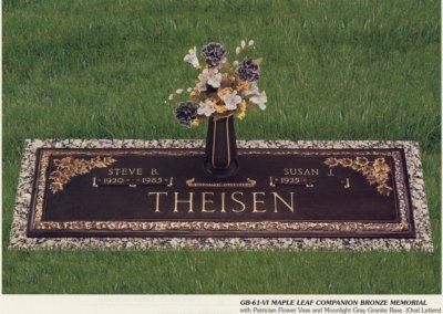 Bronze Grave Markers - Theisen