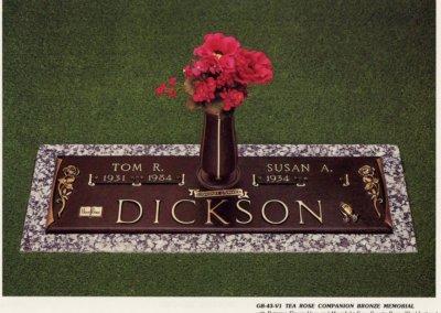 Bronze Grave Markers - Dickson