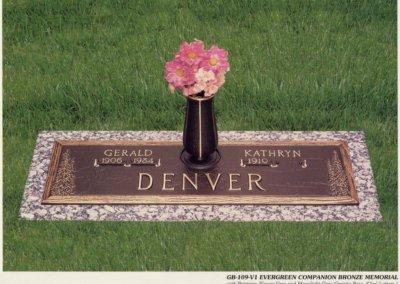 Bronze Grave Markers - Denver
