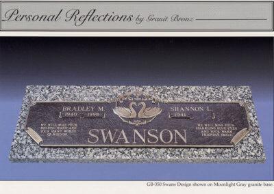 Bronze Grave Markers - Swanson