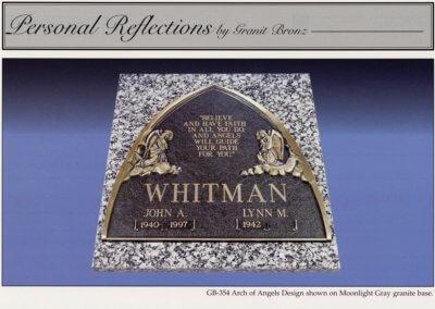 Bronze Grave Markers - Whitman
