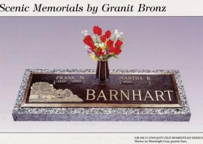 Bronze Grave Markers - Barnhart