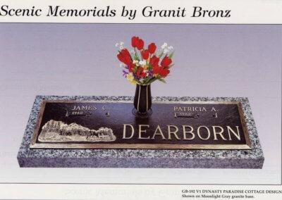 Bronze Grave Markers - Dearborn