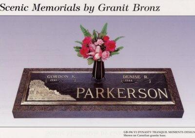 Bronze Grave Markers - Parkerson