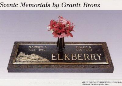 Bronze Grave Markers - Elkberry
