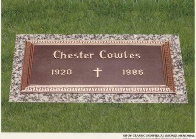 Bronze Grave Markers - Cowles