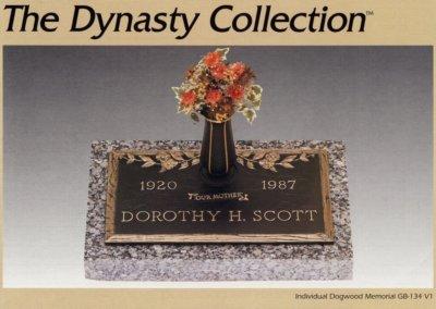 Bronze Grave Markers - Scott