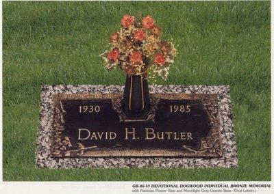 Bronze Grave Markers - Butler, David
