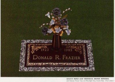 Bronze Grave Markers - Frazier