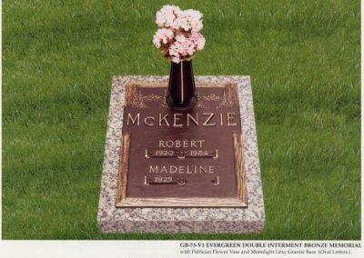 Bronze Grave Markers - McKenzie