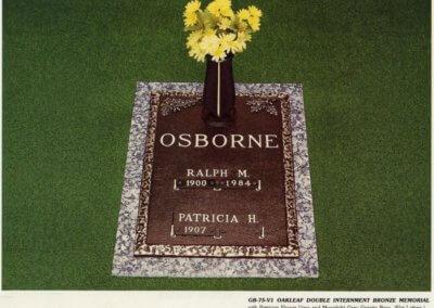 Bronze Grave Markers - Osborne