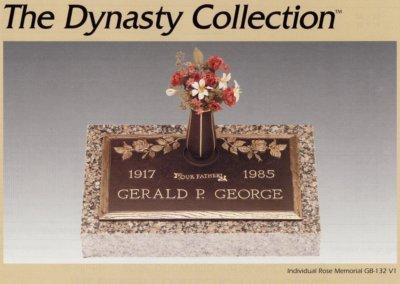 Bronze Grave Markers - George, Gerald