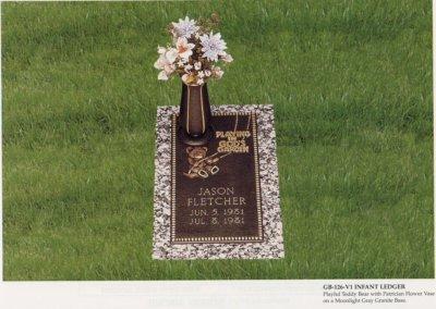 Bronze Grave Markers - Fletcher
