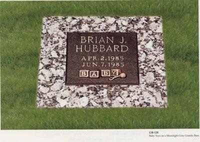 Bronze Grave Markers - Hubbard, Brian