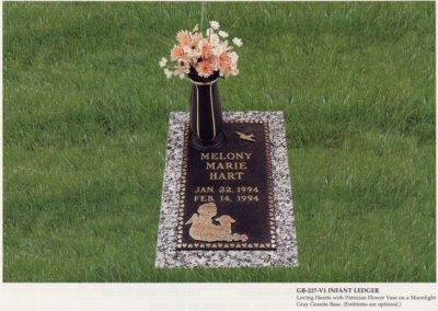 Bronze Grave Markers - Hart