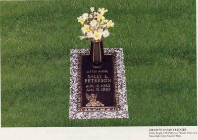 Bronze Grave Markers - Peterson