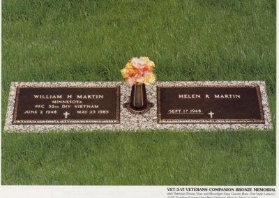 Bronze Grave Markers - Martin