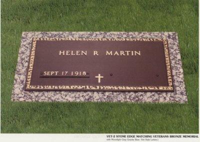 Bronze Grave Markers - Martin, Helen