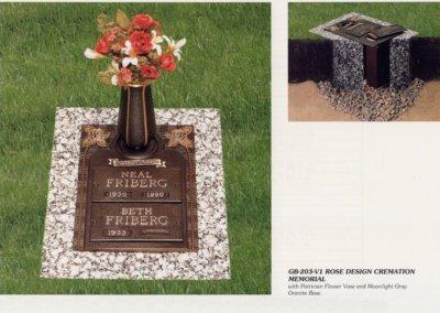 Bronze Grave Markers - Friberg