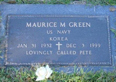 Bronze Grave Markers - Green, Pete