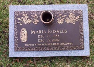 Bronze Grave Markers - Rosales, Maria