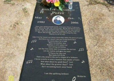 Ledger Grave Markers - Perez