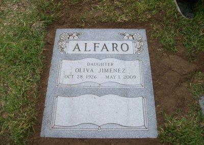 Ledger Grave Markers - Alfaro
