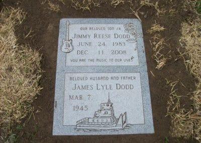 Ledger Grave Markers - Dodd