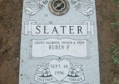 Ledger Grave Markers - Slater