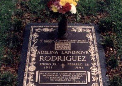 Ledger Grave Markers - Rodriguez