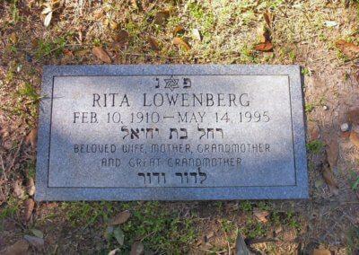 Jewish Grave Markers - Lowenberg