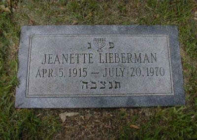 Jewish Grave Markers - Lieberman
