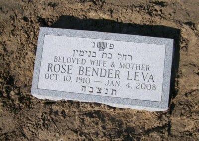 Jewish Grave Markers - Leva