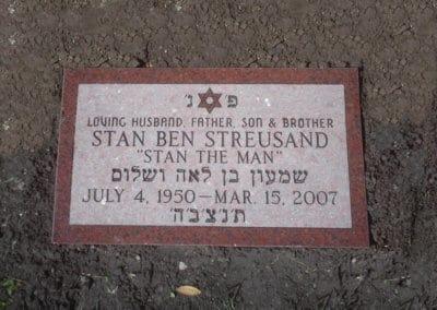 Jewish Grave Markers - Streusand