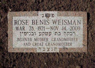 Jewish Grave Markers - Weisman