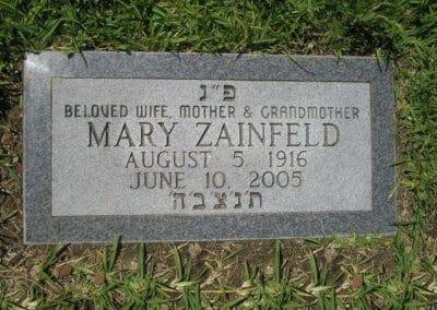 Jewish Grave Markers - Zainfeld