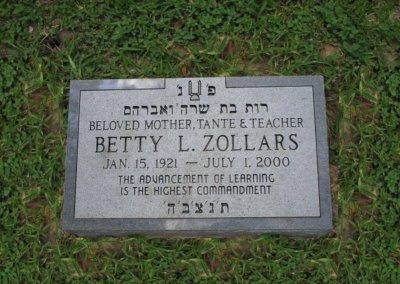 Jewish Grave Markers - Zollars