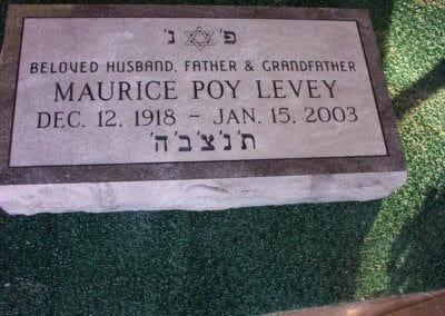 Jewish Grave Markers - Levey