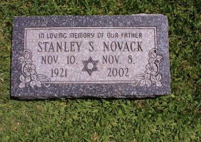 Jewish Grave Markers - Novack