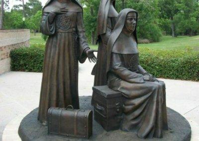 Bronze Statuary - Nuns