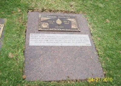 Bronze Grave Markers - Sustaita, Eugene