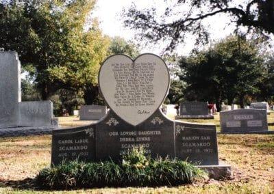 Heart Shaped Headstones and Cross Monuments - Scamardo, Debra