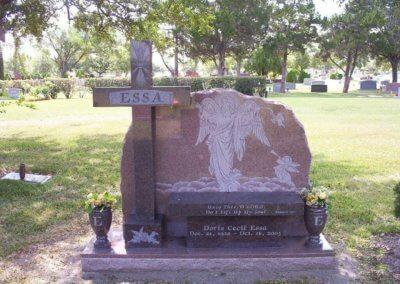 Heart Shaped Headstones and Cross Monuments - Essa, Doris