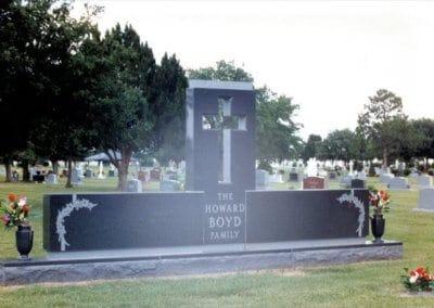 Heart Shaped Headstones and Cross Monuments - Howard Boyd Family