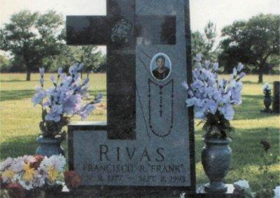 Heart Shaped Headstones and Cross Monuments - Rivas, Francisco