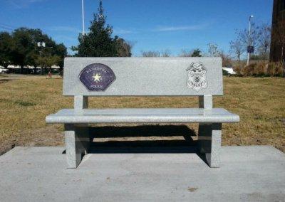 Cemetery Benches - Pasadena Police