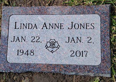 Flat Headstones or Single Grave Markers - Jones